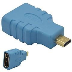 HDMI Female to Micro HDMI Male Adapter-Blue