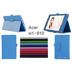 "Acer  Iconia W1-810 Tablet Case Cases With Stand/Full Body Cases 8"" for Asus Solid Colors(Assorted Color)"