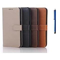 For Samsung Galaxy etui Kortholder Med stativ Flip Etui Heldækkende Etui Helfarve Kunstlæder for Samsung S6 Alpha