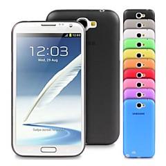 삼성 Note 2 N7100 - 뒷 커버 - 솔리드 컬러 - 삼성 모바일폰 ( 블랙/화이트/레드/그린/블루/옐로우/그레이/퍼플/로즈/오렌지 , 플라스틱 )
