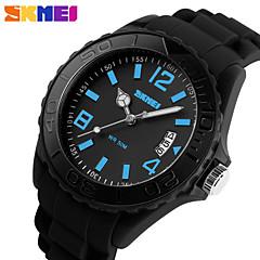 SKMEI® Men's Sporty Design Silicone Watch Japanese Quartz Slide Rule/Water Resistant Cool Watch Unique Watch
