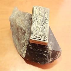 osobnosti obou stranách bronzovým reliéfem Kuan-jin bódhisattvy petrolej kovové zapalovače