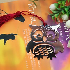 Owl Shaped Tassel Metal Bookmark