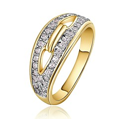 Gold Plated Statement Rings Party/Daily/Casual 1pc