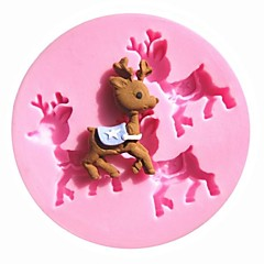 Mini Christmas Reindeer David's Deer Sugar Fondant Cake Molds Chocolate Mould Kitchen Baking Cake Tool Decoration