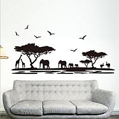 환경 이동식 아프리카 사바나 PVC 태그&스티커
