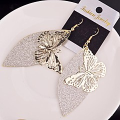2015 Stylish Retro Actress Hollow Butterfly Frosted Earrings