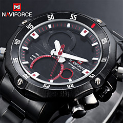 男性用 - アナログ/デジタル - 軍用腕時計 (LED/カレンダー/クロノグラフ付き/耐水/2タイムゾーン/アラーム)