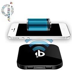 Trådløs Oplader Til mobiltelefon 2 USB-porte EU  Stik UK  Stik US Stik AU  Stik Hvid Sort