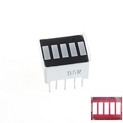 5 rouge segment numérique LED affichage de la barre