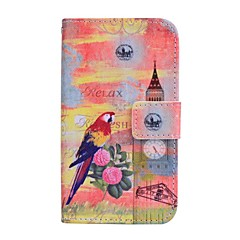 Parrot Pattern PU Leather Full Body Case For Samsung Galaxy Win I8552