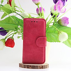 Scrub Solid Color Full Body Cases Genuine Leather Case with Slot Card for iPhone 5/5S (Assorted Color)