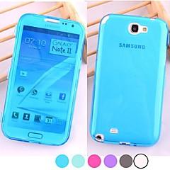 Samsung matkapuhelin - Samsung Note 2 N7100 - Kännykkäkuori - Yhtenäinen väri ( Musta/Valkoinen/Vihreä/Violetti/Ruusu/Tumman sininen , TPU )
