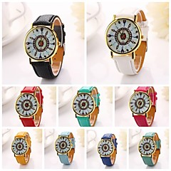 Women   Peacock Feather Printing  Pu Leather  Brand Luxury Lady Bracket Dress Wristwatch (Assorted Colors)C&D-203