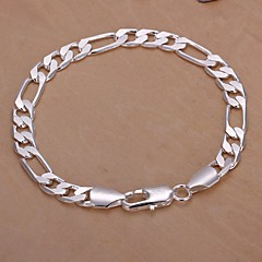 4M European Fashion 925 Silver Chain Bracelets(1Pc) Jewelry Christmas Gifts
