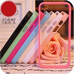 iPhone 4/4S/iPhone 4 - Takakuori - Erikoiskuvio ( Punainen/Musta/Valkoinen/Vihreä/Sininen/Pinkki/Violetti/Ruusunpunainen , Silikoni )