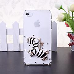caso duro estilo DIY zebra diamante de plástico para iphone 5s