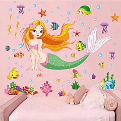 Environmental Removable Sea-maid Pattern PVC Wall Sticker
