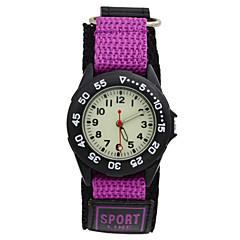 Kids Supper Light Luminous Quartz Sports Watch Canvas Nylon Strap Military Wristwatch Boy Students (Assorted Colors) Cool Watches Unique Watches