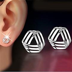Earring Stud Earrings Jewelry Women Party / Daily / Casual Silver / Sterling Silver 2pcs Silver