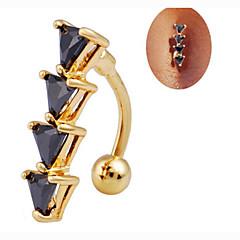 Navel & Bell Button Rings (Rostfritt stål/Zircon , Som bilden) - till Party/Dagligen/Casual