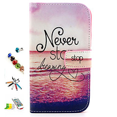 Sunset Pattern PU Leather with Stylus ,Anti-Dust Plug and Stand Full Body Cases for Samsung Galaxy Grand Neo I9060