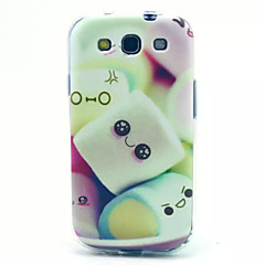 Cotton Candy Pattern TPU Soft Cover for Samsung Galaxy S3 I9300