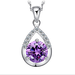 Sterling Silver/Gem Necklace Pendant Necklaces Wedding/Party/Daily/Casual 1pc