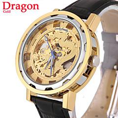 relógio mecânico auto-vento automático dourado esqueleto esportes pulso dos homens relógio de marcação dragão clássico (cores sortidas)