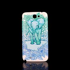 Pokrywa wzór słonia fo Samsung Galaxy Note 2 n7100 przypadku