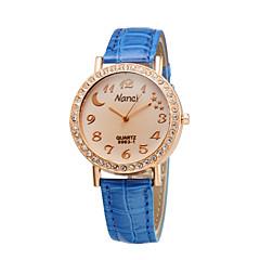 Fashion Ladies Creative Moon Star Crystal Diamond Rhinestone Watches Women Students Casual Dress Quartz Wristwatch