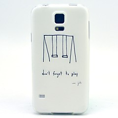 Swing Pattern TPU Soft Case for Galaxy S5 Mini