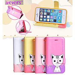 leiers® gato domi ii inversão magnética caso slot para cartão de capa de couro carteira Suporte para iPhone 5 / 5s (cores sortidas)