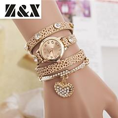 vrouwen diamanten hart parel kwarts analoge armband horloge (verschillende kleuren)