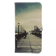 Retro Bridge Pattern Wallet Card PU Case with Stand for HTC Desire 820