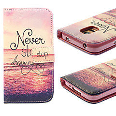 Waves Pattern PU Leather Full Body Case with Card Slot for Samsung Galaxy S5 Mini