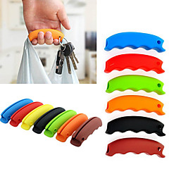 1PCS Multi-function Silicone Shopping Bag Grip Handle Carrier Grocery Holder with Keychain Hole(Random Color)