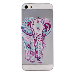 Elephant Pattern TPU Soft Cover for iPhone 5/5S