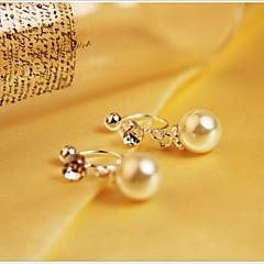 Clip Örhängen ( Legering/Oäkta pärla , Som bilden ) - till Bröllop/Party/Dagligen/Casual