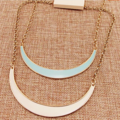 Girl's Semi-Circular Curved Necklace