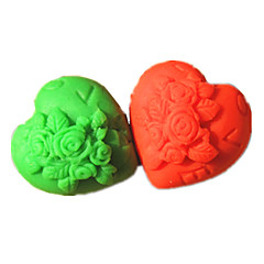 Valentine Heart Lover Fondant Cake Molds Chocolate Soap Mould For The Kitchen Baking Sugar Cake Decoration Tool