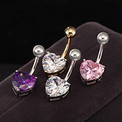 여성 Navel & Bell Button Rings 스테인레스 / 지르콘 보석류,1PC