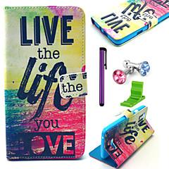 人生はあなたがアンチダストプラグやスタイラスでパターンPUレザーケースを愛し、wiko虹放置生きる
