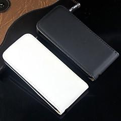 ouvrir et couleur fond plein cuir PU corps plein de protection et cas pour l'iphone 5 / 5s (couleurs assorties)