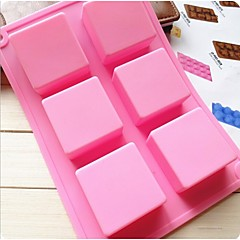 Fashion Silicone Soap Ice Modelling Cake Mold Kitchen Bakeware Cake Chocolate Decorating Cooking Tools (Random Color)