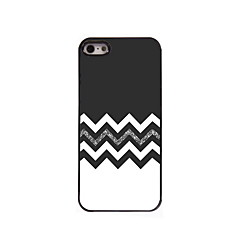The Black and White Design Aluminum Hard Case for iPhone 5/5S