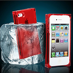iPhone 4/4S Compatible Transparent Shatter Resistant Case(Assorted Color)