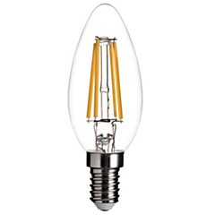5W E12 Luci LED a candela C35 COB 400 lm Bianco caldo Intensità regolabile / Decorativo AC 110-130 V