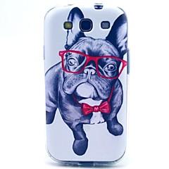 wang óculos caso macio TPU cão para i9300 Samsung Galaxy S3