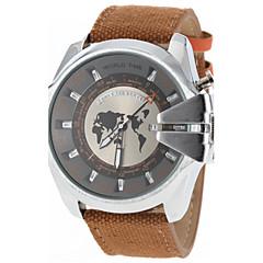 JUBAOLI Masculino Relógio Militar Relógio de Moda Quartzo Banda Branco Preto Marron Vermelho Verde